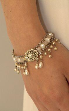 Bridal Bracelet,Pearls