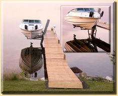 Built with pride, these boat hoists reflect the beauty of simplicity, toughness and quality. Boat Hoist, Boat Dock, Floating Dock, Fishing Boats, Bait, Outdoor Furniture, Outdoor Decor, Decks, Sun Lounger