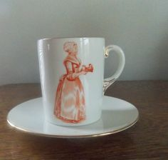 Shelley China Walter Baker Chocolate Cup and Saucer Late Foley Rare