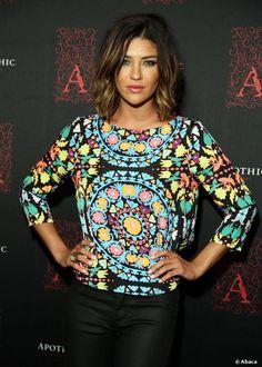 Jessica Szohr, radieuse lors d'une soirée à Los Angeles, le 25 septembre 2013.
