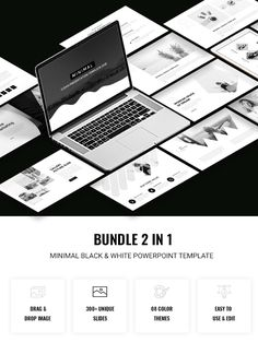 Cardiology powerpoint background free download medical 2 in 1 black white powerpoint template bundle portfolio clean download https toneelgroepblik Image collections
