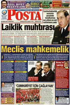 Newspaper Headlines, Old Newspaper, Trivia Of The Day, Turkey History, Newspaper Archives, Basin, Nostalgia, Poster, Life