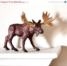 Woodland Moose Decor Table Decoration for Rustic by wishdaisy, $30.60