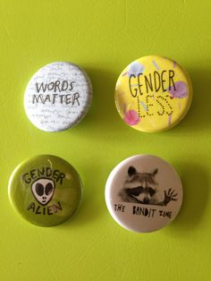 Gender Queer Button Set by TheBanditZine on Etsy