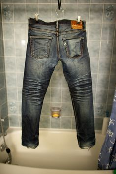 14 Months/2 Washes -- how to wear in you jeans #wornin