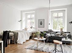 Cozy one room flat - via cocolapinedesign.com