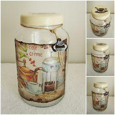 Новости Decoupage Vintage, Decoupage Jars, Wine Bottle Crafts, Mason Jar Crafts, Bottle Art, Buy Mason Jars, Bottles And Jars, Glass Bottles, Altered Bottles