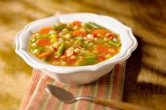 This easy, hearty vegetable soup is made with beef broth (or stock) and features carrots, turnips, leeks, tomatoes and green beans.