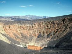 DEATH VALLEY NATIONAL PARK  California and Nevada    Death Valley National Park's Ubehebe Crater, the result of a volcanic steam explosion, stretches 600 feet from bottom to top.