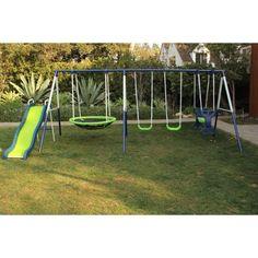 Sportspower Rosemead Metal Swing and Slide Set - Walmart.com
