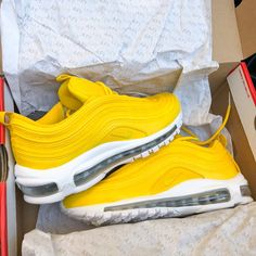 los angeles 56f83 dc351 Image of Nike Air Max 97 Sherlina Yellow (Mens) Sneakers Nike, Herrskor,