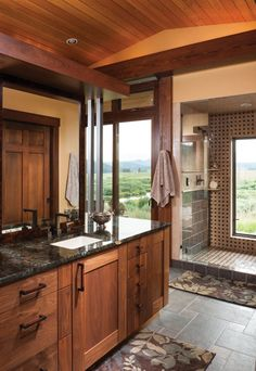 Colorado Log Home Master Bathroom