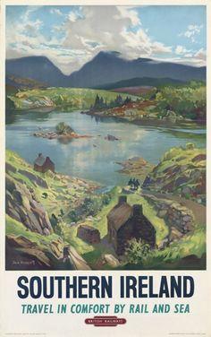"""Vintage: Reizen-Stad-Land *Travel ~""""Southern Ireland~"""
