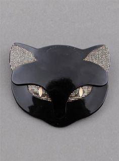 Lea Stein Bacchus Cat Brooch