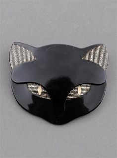 LEA STEIN BACCHUS CAT' HEAD BROOCH