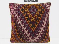 turkish pillow case 18x18 outdoor cushion cover turkish fabric bench pillow case wool pillow case geometric cushion moroccan rug sham C934 by DECOLICKILIMPILLOWS on Etsy https://www.etsy.com/listing/120357953/turkish-pillow-case-18x18-outdoor