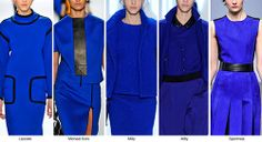 Cobalt: Fall Winter 2014-15 Color Trends from Fashion Snoops