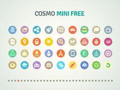 Flat icons Cosmo mini free / Flat design / #flat #design #icons