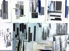 Fashion Sketchbook pages - inspirations and textiles surface development using colour and stitch - fashion design collage; fashion portfolio // Connie Blackaller