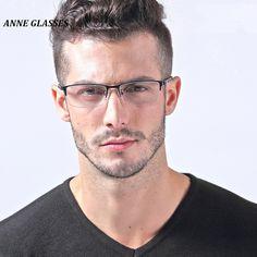 Anne glasses men''s optical frame half rim eyeglasses frame for m Half Rim Glasses, New Glasses, Hairstyles With Glasses, Cool Hairstyles For Men, Men's Optical, Optical Frames, Designer Prescription Glasses, Mens Glasses Frames, Fashion Eye Glasses