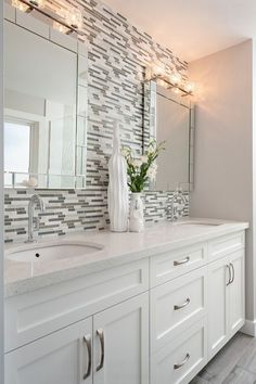 Is your home in need of a bathroom remodel? Give your bathroom design a boost with a little planning and our inspirational bathroom cabinet. Whether you're looking for bathroom remodeling ideas or bathroom pictures to help you update your old one Bathroom Cupboards, Bathroom Renos, Bathroom Renovations, Master Bathroom, Bathroom Vanities, Vanity Mirrors, Bathroom Backsplash Tile, Bathroom Stand, Bathroom Interior