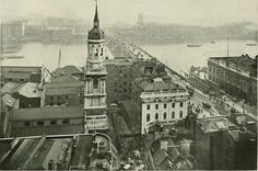 London Bridge and the river from The Monument (1902) | Image from page 148