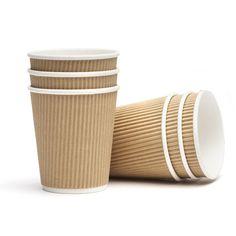 ridged paper cups
