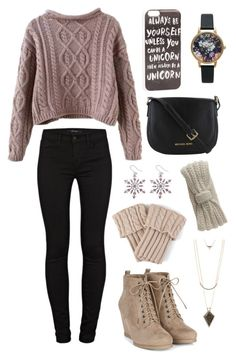 """""""Knit stufff"""" by cupcakelover81201 ❤ liked on Polyvore featuring J Brand, Olivia Burton, JFR, Charlotte Russe, Journee Collection and Aéropostale"""