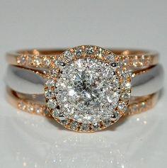 1ctw Diamond Bridal Wedding Set 3pc Round Solitaire Halo Rose & White Gold 14k Rings-MidwestJewellery.com,http://www.amazon.com/dp/B00A9JGW6S/ref=cm_sw_r_pi_dp_gpCEsb132VQ1J13D