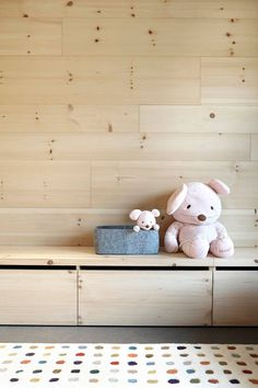 This retro house with wooden interior is located in Andorra La Vella and was recently completed by Coblonal Arquitectura from Barcelona. Retro, Kids Storage, Toy Storage, Storage Ideas, Wood Interiors, Picture On Wood, Kid Spaces, Colorful Interiors, Kids Bedroom