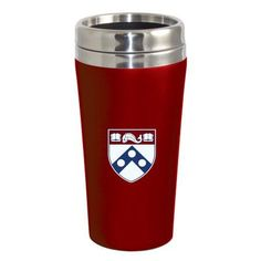 University of Pennsylvania Quakers Double Walled Travel Tumbler, Red