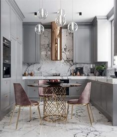A great look for a small kitchen. Soft a dusty colors. By Nama interior design … A great look for a small kitchen. Soft a dusty colors. By Nama interior design. Home Decor Kitchen, Interior Design Kitchen, New Kitchen, Home Kitchens, Kitchen Dining, Interior Decorating, Kitchen Ideas, Kitchen Modern, Kitchen White