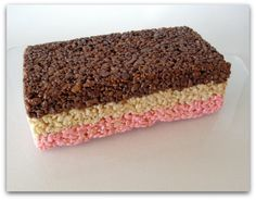 Neapolitan Rice Krispy Treats! Click the pin for more!