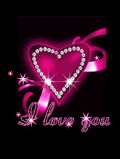 Animated, Love, All My Love, Pink, Heart, Rose, Red, Bling, Glitter, Valentine, Romance, Romantic, Pretty, Nice, Lovely, Cute_Stuff