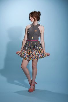 Vestido tetris! :)))    be the star of the BLOCK party in this tetris by nerdalertdesigns, $90.00