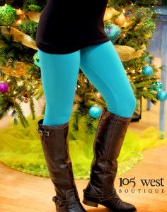 Cozy Fleece Lined Leggings.  One size fits most.  $19.99.  Various colors available.  ~  105 West Boutique located in Abbeville, SC.  (864) 366-WEST.  Look for us on Facebook!