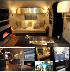 I LOVE how this 26' 1967 Airstream Overlander has been revamped