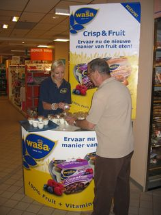 Wasa Crips & Fruit demonstratie bij Albert Heijn AH