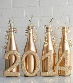 décoration intéressante avec des bouteilles