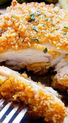 Oven Fried Chicken + Broccoli with Honey Garlic Sauce ^