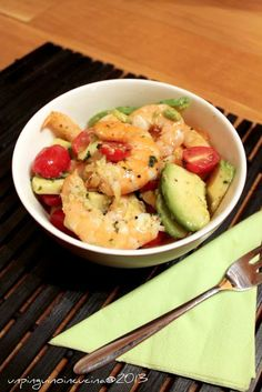 Un pinguino in cucina: Insalata speziata di mazzancolle e avocado - Spicy Prawn and Avocado Salad
