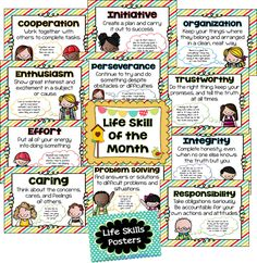 Life Skills Posters - 27 Classroom Poster Sets: Free and Fantastic - Teach Junkie Classroom Freebies, Classroom Behavior, Classroom Posters, Classroom Themes, School Classroom, Classroom Organization, Classroom Management, Behavior Management, Classroom Rules