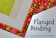 A wonderful method for starting out, and getting some experience with machine finished binding,...