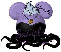 Ursula character Little Mermaid inspired by SwirlyColorPixels