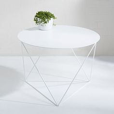 Eric Trine Octahedron Side Table - White $300 & acquired