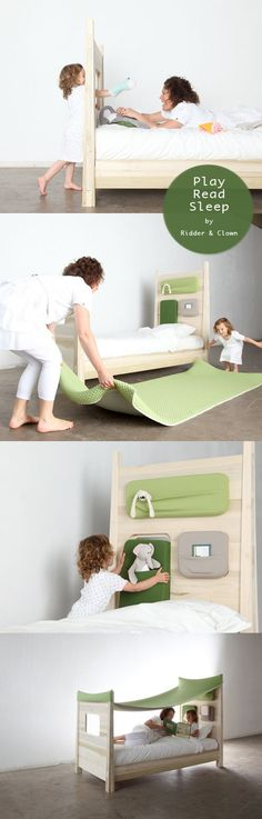 amazing kids bed design. check out this page to see the bed with the cover. makes me want to do it for my childs bed. Studio ToutPetit: Sleepy Sundays * Dutch Design for Kids: