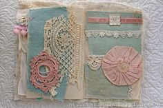 suzanne duda.    great visual tutorial on how she puts together her fabric journal