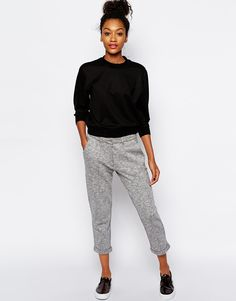 Image 1 ofMonki Cropped Marl Trouser
