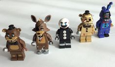 Five Nights At Freddy's Custom Lego Minifigures by BackwellStation