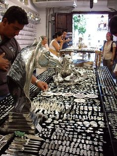 The silversmiths of Taxco, Mexico.